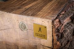 Craftsmanship, functionality and aesthetics in harmony: the Treekitchen.Photos by Kirchmair - alles Wohnen. Oak Logs, Unique Woodworking, Warm Colors, Designer, Modern Design, Tables, Aesthetics, Restaurant, Cooking