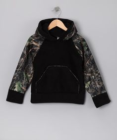 Take a look at the Black Camo Hoodie - Infant, Toddler & Boys on #zulily today!