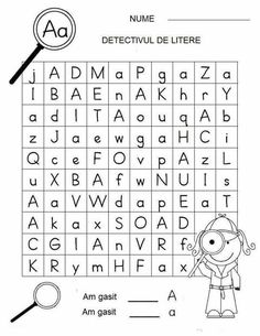 Letter Detectives Worksheets Aa to Zz Preschool Writing, Preschool At Home, Letter Worksheets, Kindergarten Worksheets, Games For Kids, Activities For Kids, Kids Education, Kids Learning, Detective
