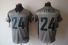 Wholesale NFL Nike Jerseys - Seattle Seahawks 24# Marshawn Lynch blue Jersey | Cheap NFL ...