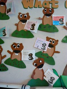 Your kiddos will love this adorable Groundhog Day Craft and accompanying ELA activities that engage students in adjectives and rhyming words. Kindergarten Writing, Kindergarten Activities, Art Activities, Classroom Activities, Classroom Ideas, Preschool Ideas, Literacy, Craft Ideas, Groundhog Day Activities