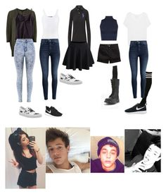 """One week outfits inspired by Chrissy Costanza, Derek Luh, Cameron Dallas & Nate (Skate) Maloley"" by princesselune97 ❤ liked on Polyvore featuring Ralph Lauren, Vince, H&M, NIKE, WithChic, Vans, River Island, Danskin, WearAll and Samantha Holmes"