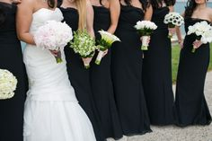 Each bridesmaid held a different white bouquet. #studioag #studioagdesign Photo by Christy Tyler Photography