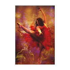 Live More / dance More canvas print by GameRoom #dance #art