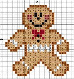 Tiny Gingerbread Guy Cross Stitch Pattern