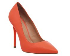Office On Tops Fluro Coral Leather - High Heels