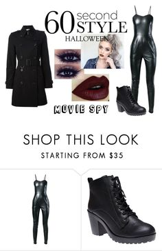 """60 Second Style: Last Minute Halloween Costume VII"" by amythehooligan ❤ liked on Polyvore featuring moda, Yves Saint Laurent, Wet Seal, Burberry y 60secondstyle"