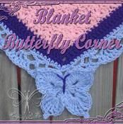 Butterfly Corner for a Blanket Border Looking for your next project? You're going to love Butterfly Corner for a Blanket Border by designer Ashley Bower. Picot Crochet, Manta Crochet, Crochet Trim, Crochet Motif, Free Crochet, Crochet Stitches, Crochet Afghans, Crochet Blanket Border, Crochet Boarders