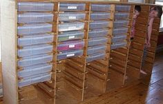 Craft supply storage. There's another photo that shows more detail on how it was built.