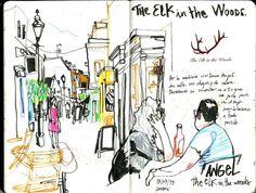 Inma Serrano - Londres Julio 2014   Flickr - Photo Sharing! Drawing Sketches, Drawings, Illustration Art, Illustrations, Sketch Inspiration, Urban Sketchers, Visual Diary, Sketchbook Ideas, Gcse Art