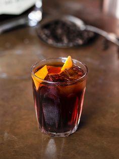 Coffee Negroni 20ml coffee liqueur  20ml Gin 15ml Campari 10ml sweet vermouth
