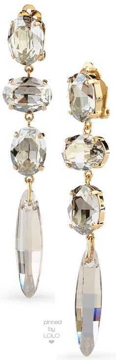 Ralph Lauren SWAROVSKI QUAD-DROP EARRINGS | LOLO❤︎