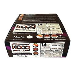 Real Food Protein Bar Koog Mocha Bar Health is Wealth 12 barsbox >>> You can find out more details at the link of the image.
