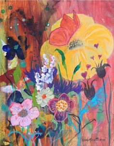 Friendship Blooms limited edition fine art by RobinMariaPedrero, $50.00