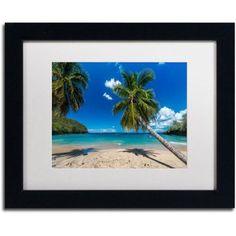 Trademark Fine Art Martinique Canvas Art by Mathieu Rivrin, White Matte, Black Frame, Archival Paper, Size: 16 x 20