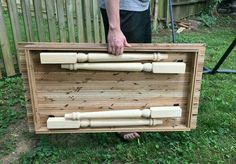 Create your own folding farm table diy table How to Make a Folding Farmhouse Table from Reclaimed Wood Diy Wood Projects, Furniture Projects, Wood Furniture, Wood Crafts, Projects To Try, Diy Crafts, Furniture Plans, Furniture Design, Industrial Furniture