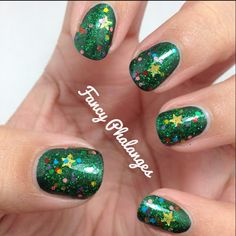 """Lush Lacquer - """"Tree-Mendous"""" (Nail Glitter)   #christmasnails #xmasnails"""