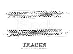 Two tire tracks on a white background royalty-free stock vector art