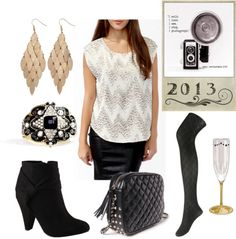 New Years Eve outfit...this w pencil skirt and tights