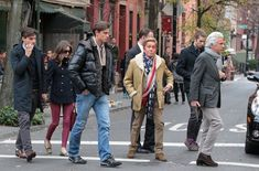 Olivia Palermo and Johannes Huebl strolling in the West Village with Valentino after having lunch at Sant Ambroeus NYC