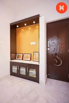Living Room Designs, Living Spaces, Interior Door Colors, Mandir Design, Living Room Partition, Pooja Room Door Design, Garage Door Design, Kerala House Design, Puja Room