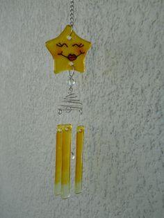 Llamador De Angeles En Vitrofusion Delicado Sonido