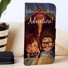 Carl And Ellie Quotes | Disney | Up | custom wallet case for iphone 4/4s 5 5s 5c 6 6plus case and samsung galaxy s3 s4 s5 s6 case - RSBLVD