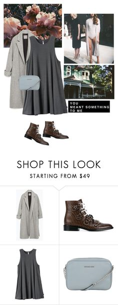 """""""Untitled #1961"""" by ivonce ❤ liked on Polyvore featuring Zara, Givenchy, RVCA and MICHAEL Michael Kors"""