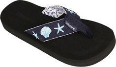 Tidewater Sandals Women's Blue Shells *** Details can be found by clicking on the image.