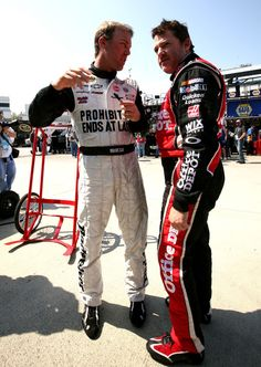 Tony Stewart with Kevin Harvick during Martinsville practice, 2012. GO TONY!!!!!