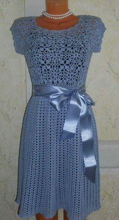 crochet dress ~~ inspiration only Crochet Skirts, Crochet Clothes, Knit Crochet, Crochet Books, Crochet Stitch, Prom Dress Shopping, Crochet Woman, Crochet Fashion, Crochet Designs