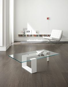 Glass coffee table PLINSKY - T.D. Tonelli Design