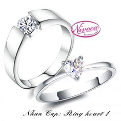 Nhẫn Cặp Ring Hearts 1  - Rings couple Rings heart 1