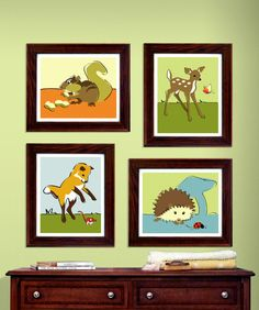 Woodland animal prints forest nursery art  pick any by PaperLlamas, $45.00