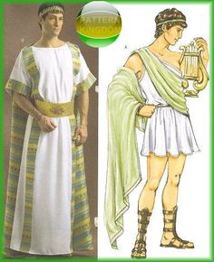 Beautiful Julius Cesear Tunic Greek Roman Toga Patterns Ancient Greece Clothing,  Ancient Greece Fashion, Roman