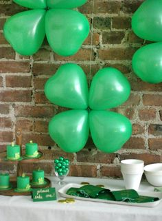 If you have old heart-shaped balloons from Valentine's Day, then you have yourself a lucky 4 leaf clover!