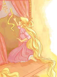 Tangled - Rapunzel fan art by viria13 on Deviantart