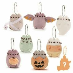 Halloween 2017 pusheen blind boxes. I need to save my money so I can get all of these.    @thtbitxhrapunzl Halloween Ornaments, Spooky Halloween, Christmas Ornaments, Pusheen Toys, Skull Pumpkin, Surprise Box, Candy Corn, Series 4, Halloween Trick Or Treat