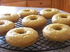 Low Carb Coconut Flour Donuts  [Donuts: ½ cup coconut flour ¼ cup unsweetened dried shredded coconut ¼ cup granular erythritol ¼ teaspoon stevia extract powder ¼ teaspoon sea salt ¼ teaspoon baking soda 6 eggs ½ cup coconut oil ¼ cup unsweetened almond milk 1 tablespoon vanilla extract]
