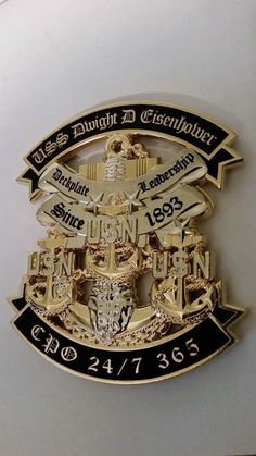 USS DWIGHT D EISENHOWER CPO 24/7 365 CHIEF MESS CHALLENGE COIN