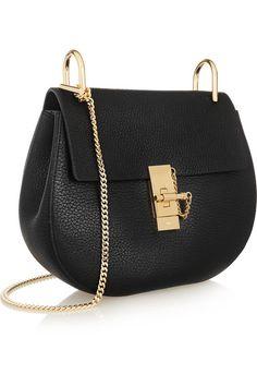 Chloé | Drew small textured-leather shoulder bag | NET-A-PORTER.COM