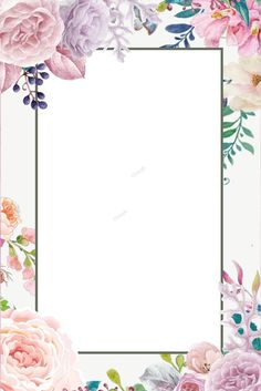 Fresh Flowers Simple Flowers Background Poster Fresh Flowers Floral Border Background Fauna and Flora are two terms frequently heard by … Floral Watercolor Background, Flower Background Images, Paint Background, Flower Backgrounds, Watercolor Flowers, Floral Backround, Background Patterns, Design Floral, Design Art
