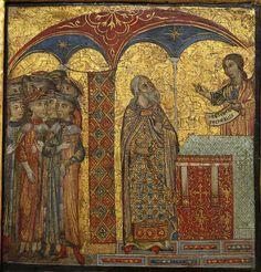 Deodato Orlandi - Scene della vita del Battista: Zaccaria e l'angelo - Gemäldegalerie, Berlino