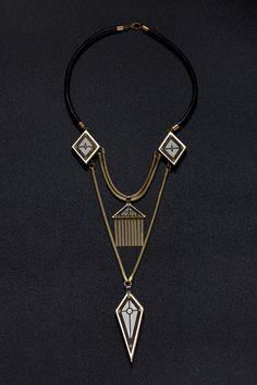 statement necklace large Necklace Bold by LizaJewelryArtist