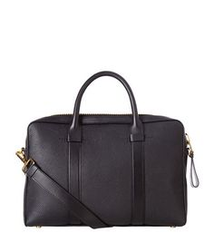 TOM FORD Grain Leather Laptop Bag. #tomford #bags #shoulder bags #hand bags #leather