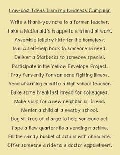 Kindness  Campaign Ideas