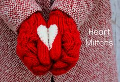 How to make heart mittens.