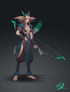 ArtStation - Eagle totem female archers, Chengyou Liu