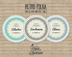 retro circle labels - Google Search