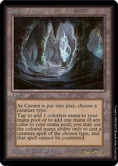 Cavern of Souls, beta, zeerbe, proxy, digital render, MTG, Z's Proxy Factory, Avacyn Restored